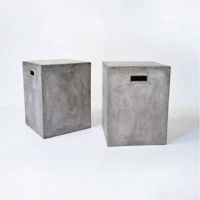 Above Made of raw concrete a Letter Box stool has two handles and measures 18 inches tall (a comfortable height for seating); $179 apiece from Teak ... & 10 Easy Pieces: Concrete Outdoor Furniture - Gardenista islam-shia.org