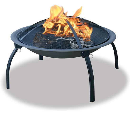 Above: A 22 Inch Steel Folding Portable Fire Pit Has Four Legs And Comes  With A Spark Screen Cover And Poker; $59.81 From All Modern.