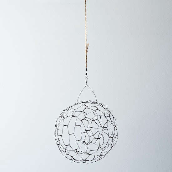 Above: A Steel Wire Spherical Hanging Basket Made In Connecticut Is 14  Inches High Including The Hanging Loop And Will Hold Garlic, Onions, ...