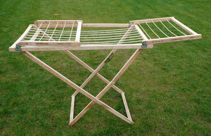 Large Amish Wooden Clothes Drying Rack