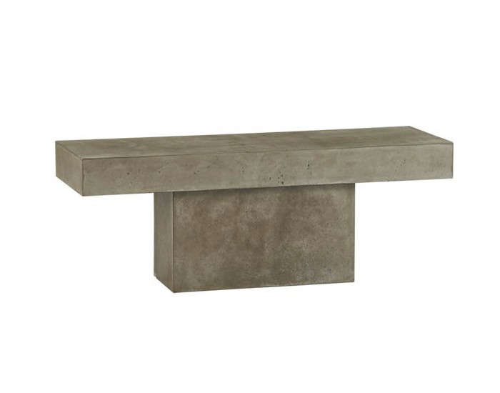Above: A Matching Concrete Fuze Grey Bench Is 49 Inches Long; $399 From CB2.