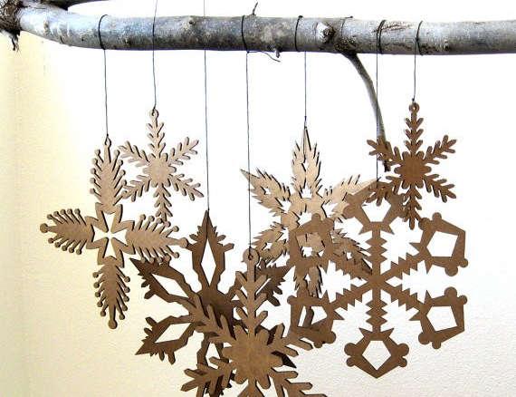 Cardboard Hanging Snowflake