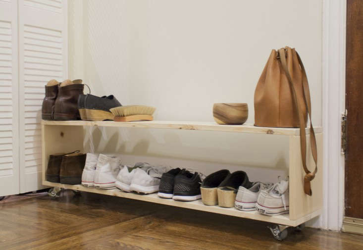 small space diy a perfect shoe rack for a narrow entryway gardenista