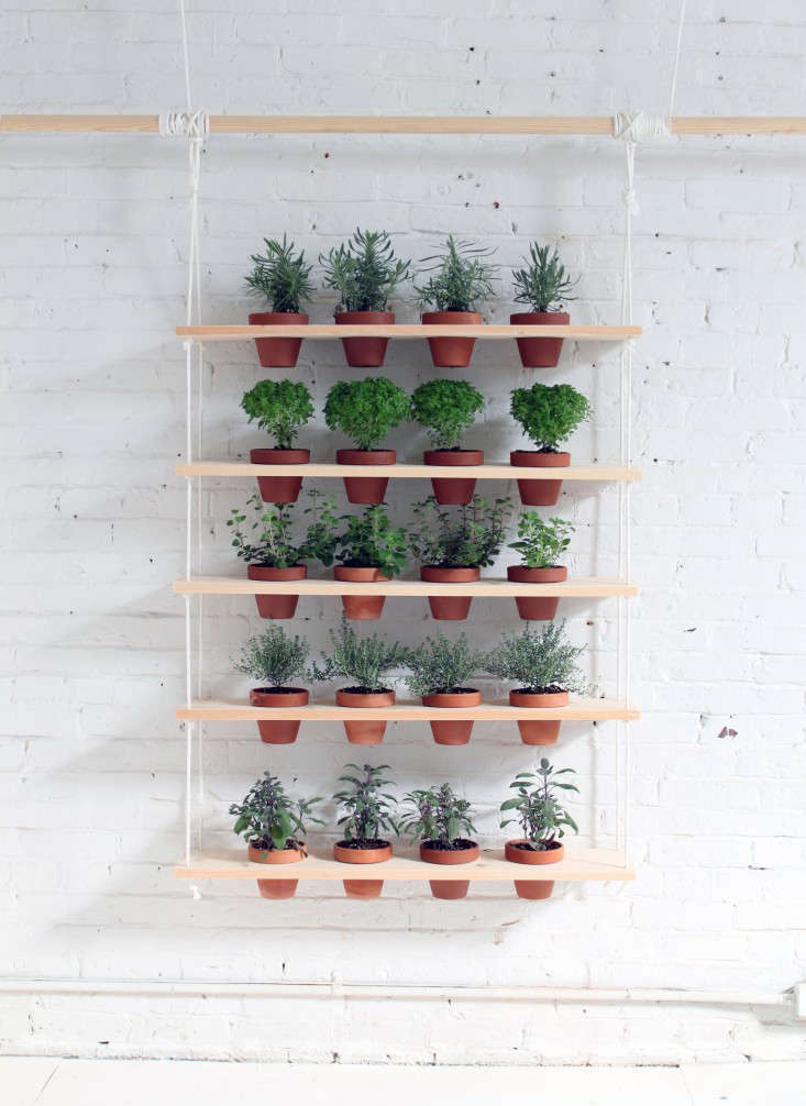 garden shelves. Above: The Small-space Hanging Wall Garden Holds 20 Houseplants. Shelves I