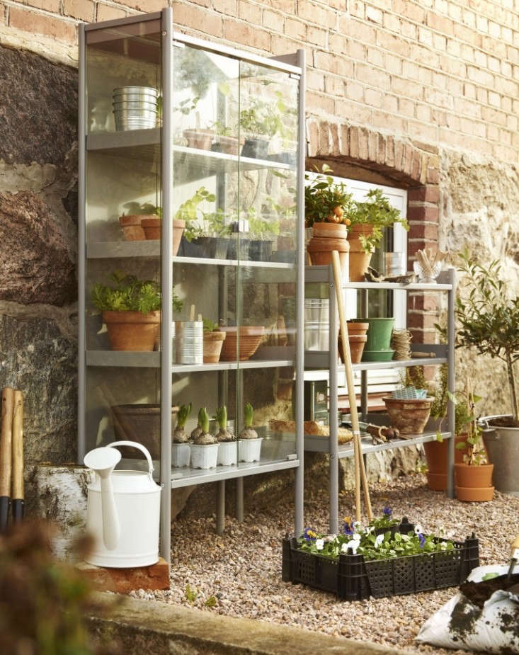 Best of ikea 2015 a glass greenhouse cabinet gardenista - Vitrine collection ikea ...