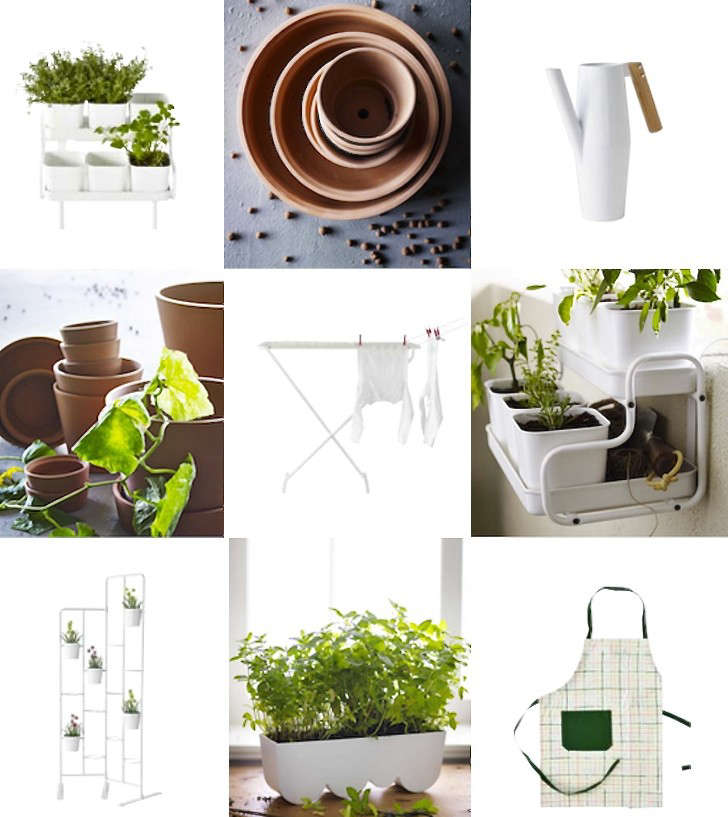 Above: Top Row, L To R: Socker Plant Pot With Holders ($24.99), Ingefí¤ra Plant  Pots And Saucers ($1.99 $19.99), Bittergurka Watering Can ($9.99).