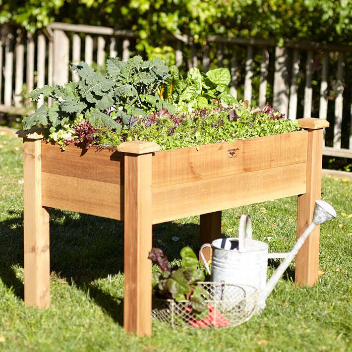 Raised Planters On Legs: 10 Easy Pieces: Wooden Elevated Planters
