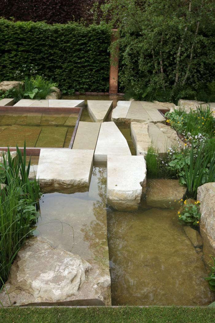 Limestone Slabs Sarah Price Chelsea Flower Show Gardenista