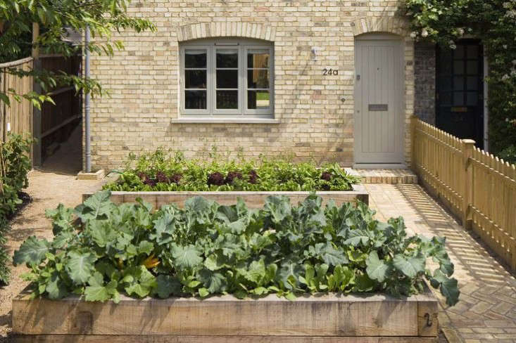 Raised beds add another architectural element to the facade. Photograph courtesy of Sam Tisdall.