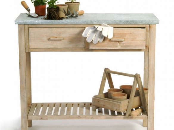Oppotafel Pine Potting Table