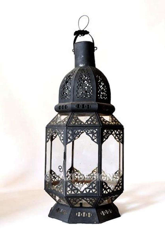 A Moroccan Outdoor Lantern Made Of Hand Pierced Tin Is $112 From Tazi  Designs.