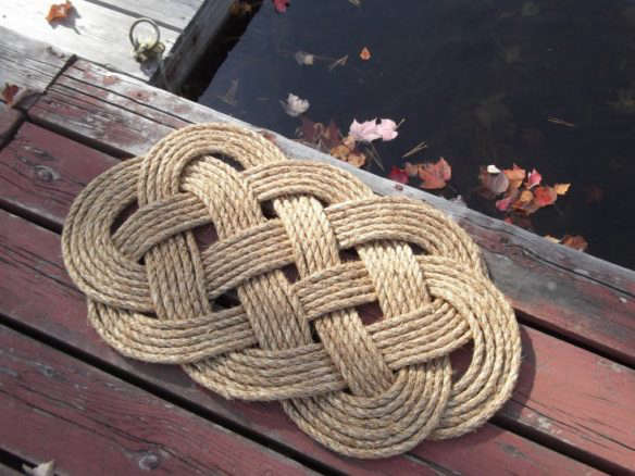 Nautical Front Doormat And Rope Rug
