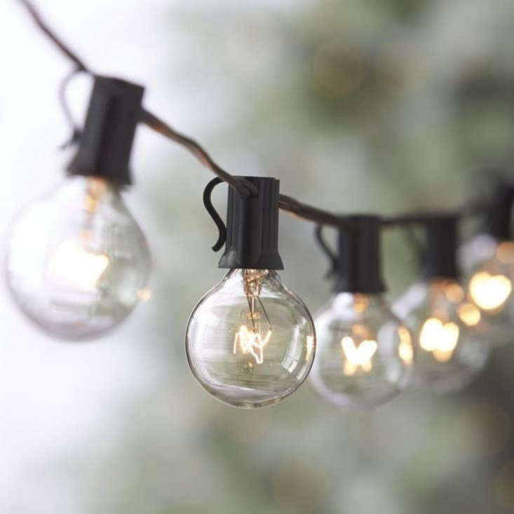 Globe Bulb String Lights Urban Outfitters : 10 Easy Pieces: Outdoor Holiday String Lights - Gardenista