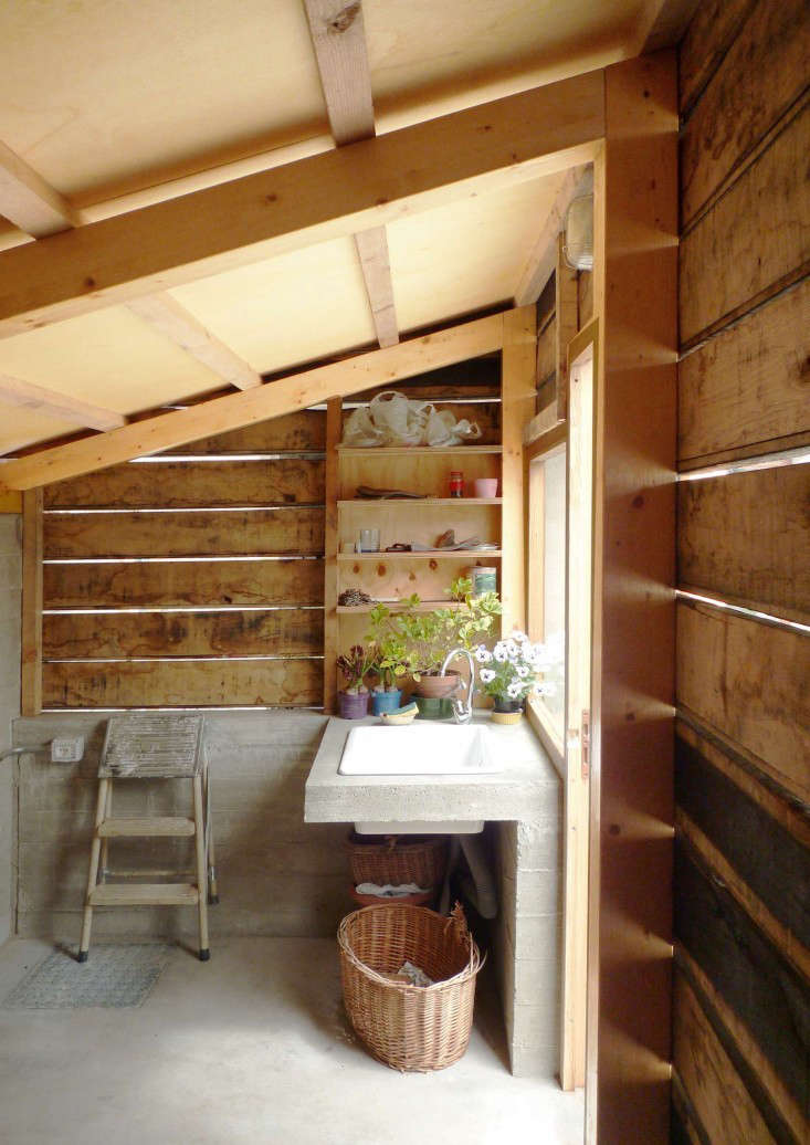 outbuilding firewood shed italy studioerrante gardenista 2. Outbuilding of the Week  A Woodshed Transformed  by StudioErrante