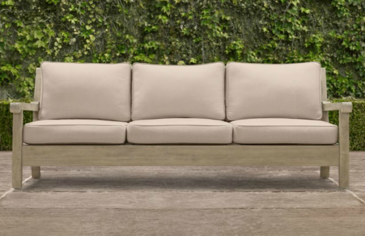 Above: From Restoration Hardware, A 70.25 Inch Long Three Seat Leagrave Sofa  Made Of Weathered Teak Is $2,295 (itu0027s Also Available In Three Other Sizes).