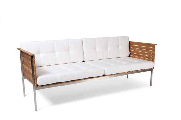 Captivating Above: Currently On Sale From Design Within Reach, A 76.5 Inch Long Finn  Three Seater Sofa From Danish Design House Norm Has A Teak Frame And ...