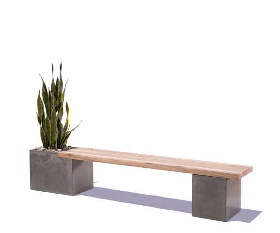 A Concrete Bench With A Side Of Greenery Gardenista