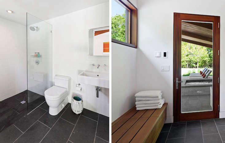 pool house interior. Poolhouse-interior-bathroom-water-mill-khanna-schultz-gardenista Pool House Interior B
