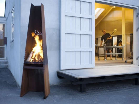 Rais Gizeh Outdoor Wood Fireplace and Grill - Gizeh Outdoor Wood Fireplace And Grill