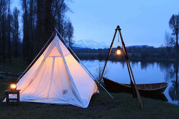 Above With sewn-in vinyl floors pyramidal Range Tents keep belongings (and c&ers) dry. The Army duck canvas tents come in three standard sizes; ... & 10 Easy Pieces: Canvas Teepee Tents - Gardenista