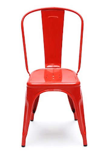 Gentil Above: The Iconic Original: A Stackable Tolix Marais A Chair Is Available  In Red. For More Information And Prices, See Tolix.