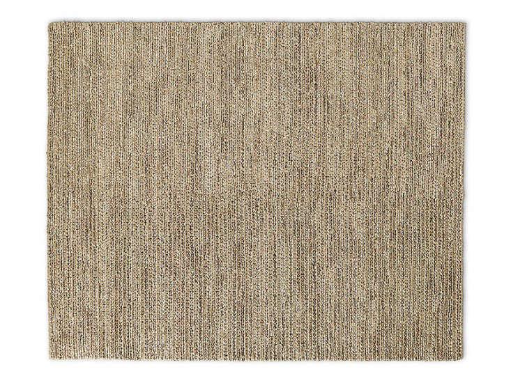 chunky hand-braided jute rug - honey