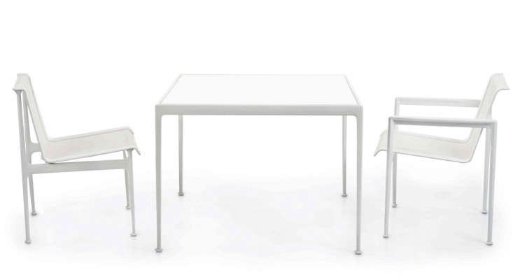 Easy Pieces White Outdoor Dining Tables Gardenista - White metal outdoor dining table
