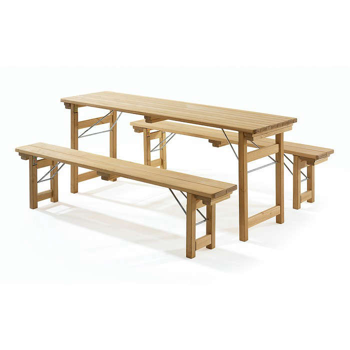 robinia wood beer garden table