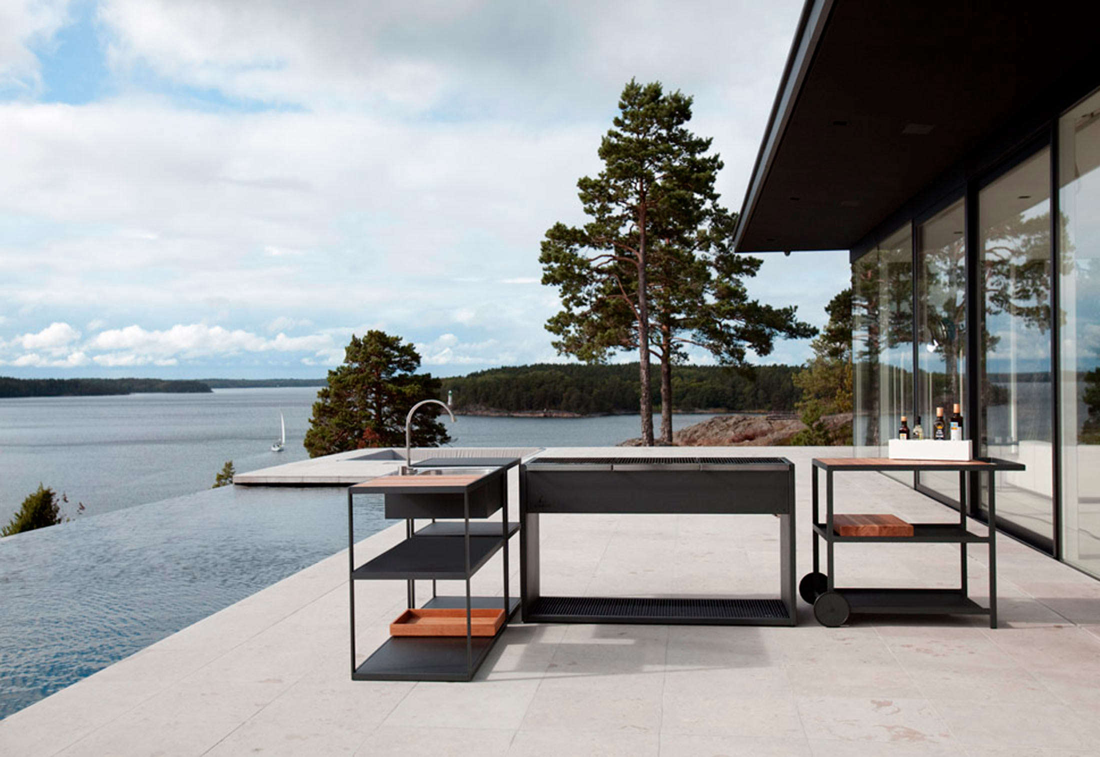 Above: Designed By Swedish Interior Architects For Röshults, The Garden  Outdoor Kitchen Is Meant To Accompany One Of Their Outdoor Grills.