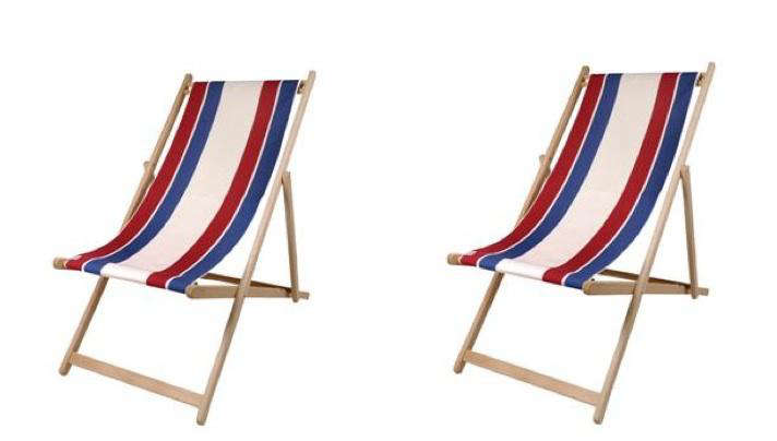 Above: A Set Of Two French Deck Chairs With Canvas Is $298 From Olive And  Branch.