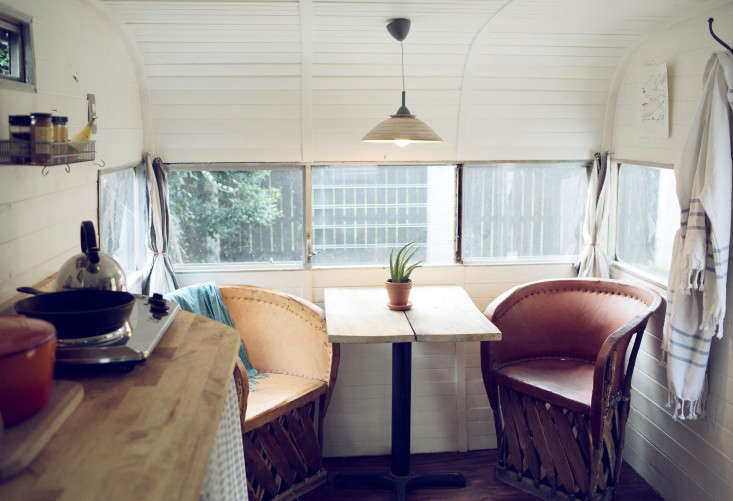 Outbuilding Of The Week A Retro 60s Camper Outdoor Bathhouse Included