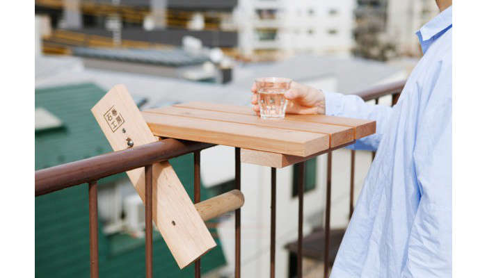 Above: A Moveable Arm Wraps Around The Balcony Railing And Provides A  Counter Balance To The Tabletop.