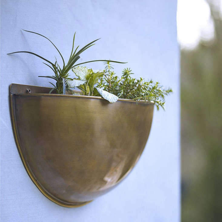 brass wall planters from rowen u0026 wren in the uk
