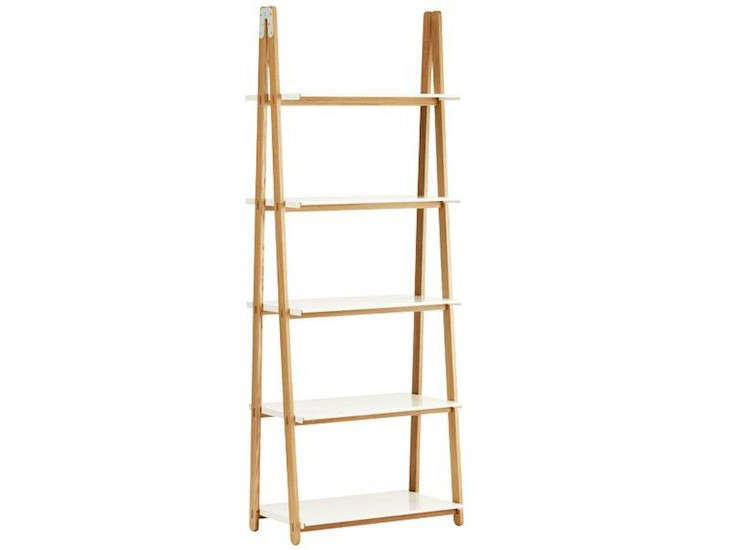 Above: From Danish Designer Francis Cayouette, A Wooden One Step Up Shelf  Has An Ash Wood Frame And Five White Metal Shelves; $690 From Finnish  Design Shop.