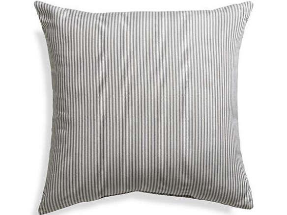 sunbrella charcoal ticking stripe 20 in sq outdoor pillow