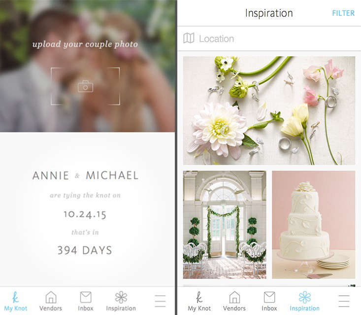 10 easy pieces wedding planning apps gardenista above the knot wedding planner app organizes brides and grooms by enabling them to keep a checklist of to dos countdown to the big day junglespirit Choice Image
