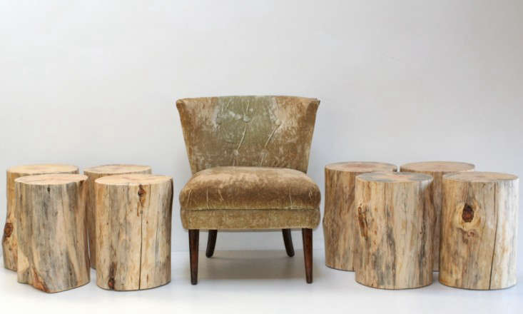 Above: Handmade In New Mexico, A Tree Trunk Stool Is Made Of Reclaimed Pine  And Has Felt Feet. It Measures Approximately 19 Inches Tall And Is From 10  To 12 ...