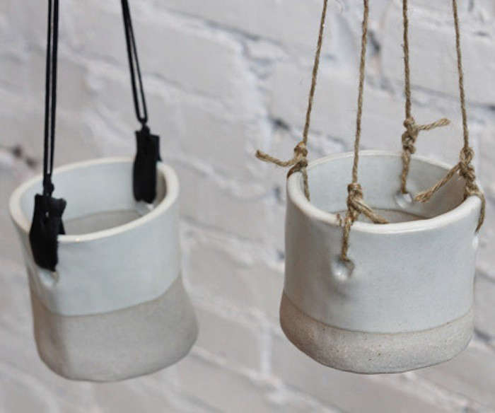 10 Easy Pieces White Hanging Planters Gardenista