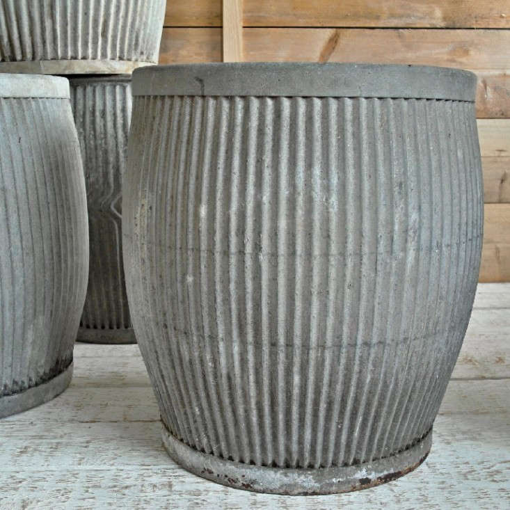 Well-known 10 Easy Pieces: Zinc Barrel Planters - Gardenista XU38
