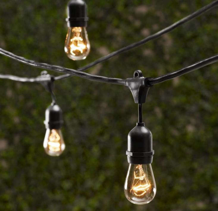 10 easy pieces cafe style outdoor string lights gardenista - Deck String Lights Target. Bright July Diy Outdoor String Lights