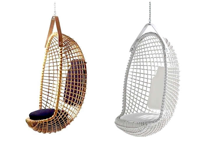 A midcentury design the Eureka Hanging Chair by Giovanni Travasa is still being handmade in  sc 1 st  Gardenista & 10 Easy Pieces: Rattan Hanging Chairs - Gardenista