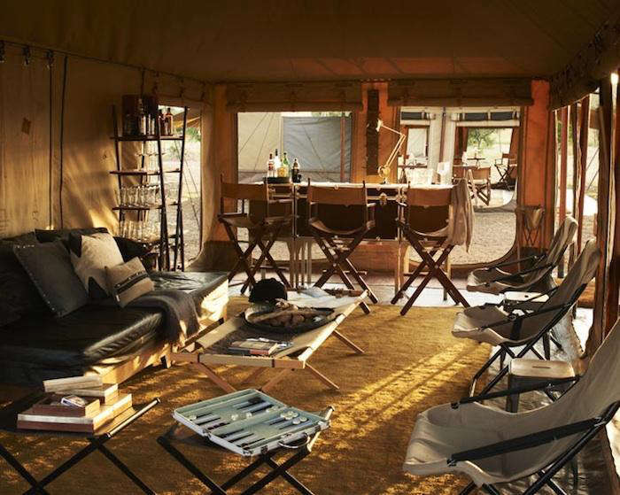 Image of: Safari Style Furniture With 700singitaexploremobiletented1 Camping Serengeti Safari Style Gardenista