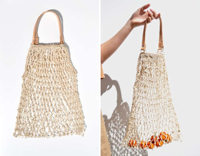 How To Weave A String Basket : Woven string bags for groceries gardenista