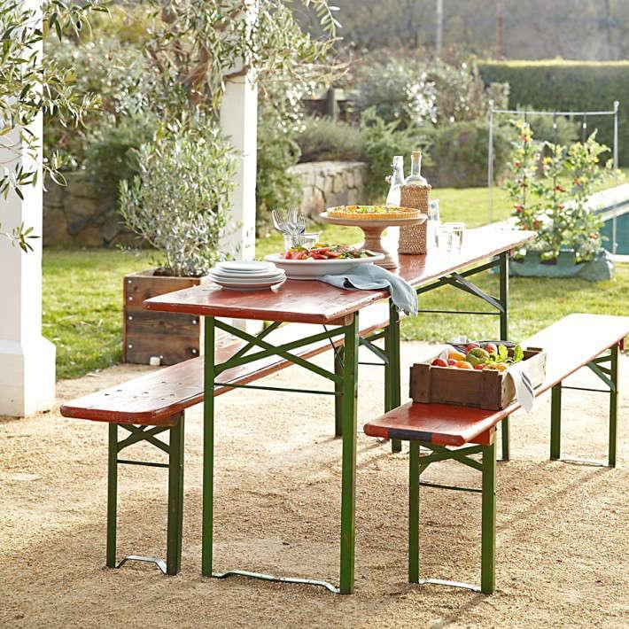 beer garden table. Vintage-biergarten-beer-garden-table-gardenista Beer Garden Table