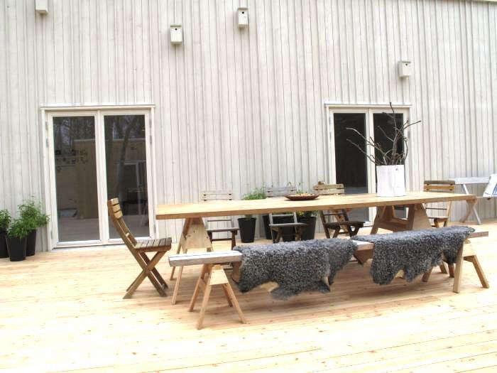 scandinavian outdoor furniture. Steal This Look: DIY Scandinavian Outdoor Dining Space Furniture