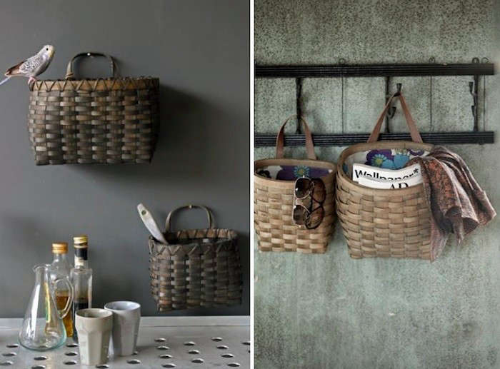 Wall Hanging Storage Baskets the well-appointed potting shed: 5 baskets as wall-mounted storage