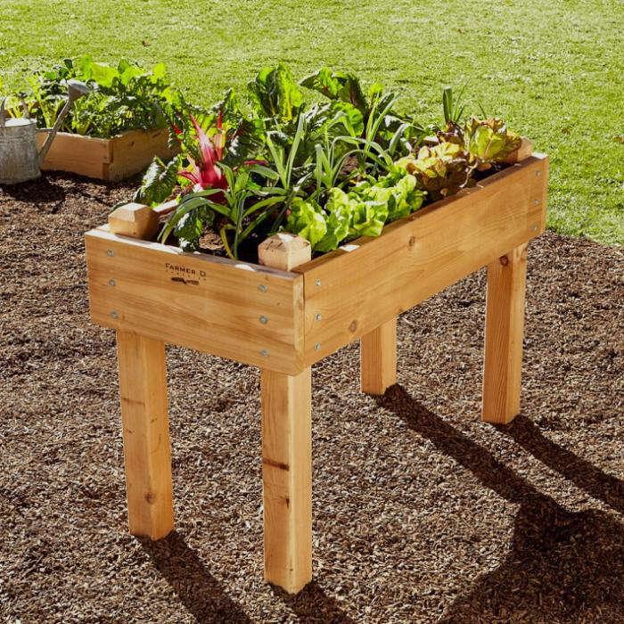 Raised Planters On Legs: Cedar Bed-on-Legs Kit