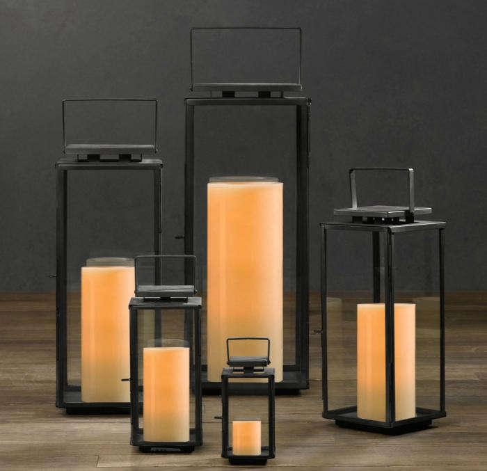 Amalfi Square Lanterns Weathered Zinc