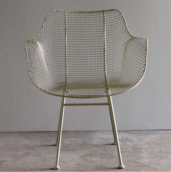 biscayne wire chairs - silver