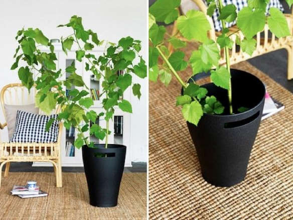 5 favorites jet black planters gardenista for Black planters ikea